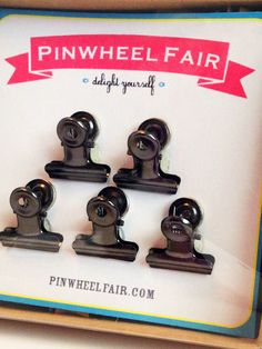 Vintage Style French Clip Push Pins or Magnets by PinwheelFair, $21.00
