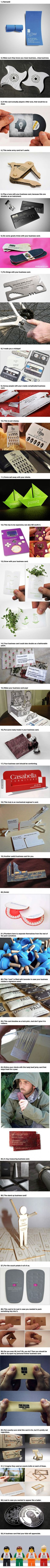 These 33 Unique Business Cards Will Make You Stand Out From The Crowd.