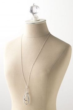 silver link pendant