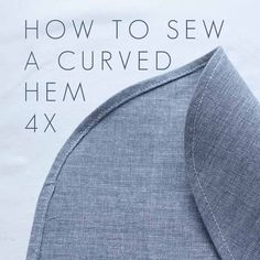 How to sew a curved
