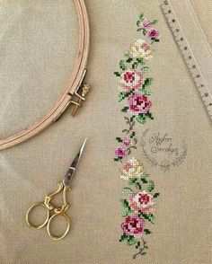 This Pin was discovered by Yur Cross Stitch Kitchen, Cross Stitch Love, Cross Stitch Borders, Cross Stitch Flowers, Cross Stitch Designs, Cross Stitching, Cross Stitch Patterns, Diy Embroidery, Cross Stitch Embroidery