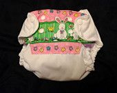 Easter Hopping to Potty One Size Pocket Diaper