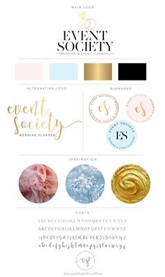 Branding Package Diamond Rings Event Planner Logo  by VisualPixie