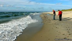Looking for Amber on a Baltic Sea beach with Toursgallery escorted small group tour.