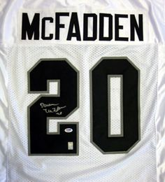 Darren McFadden Autographed Oakland Raiders White Jersey PSA DNA Stock 584935b98