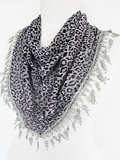 Hey, I found this really awesome Etsy listing at https://www.etsy.com/listing/95268157/gray-transparent-leopard-scarf-shawl