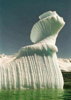 Spiral Iceberg in Antarctica — Photo by Steve Bulford.