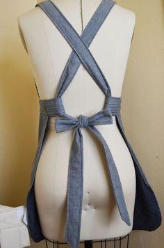 Amarração de avental ajustável