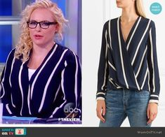 Meghan McCain Fashion on The View Fashion Tv, Fashion Outfits, Meghan Mccain, Hourglass Fashion, Dress Out, Rag And Bone, Silk Crepe, Work Wardrobe, Style Me