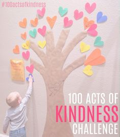 Join the 100 Acts of Kindness Challenge in Kindness Elves, Teaching Kindness, Kindness Activities, Learning Activities, Kindness Ideas, Elderly Activities, Sensory Activities, Summer Activities, Social Emotional Learning