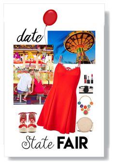 """State Fair Date"" by fernshadowstudio-com ❤ liked on Polyvore featuring Kate Spade, Miss Selfridge, Vince Camuto, Neiman Marcus, MAC Cosmetics, Smashbox, statefair and summerdate"