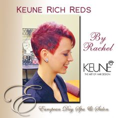~Hair by Rachel~ Here's another fabulous example by Rachel of our stunning rich reds from Keune with a leopard print design modeled by the beautiful Corra! Book your appointment today to get your beautiful Red Keune haircolour!   (604) 852-2228.   http://www.abbotsfordspa.ca/