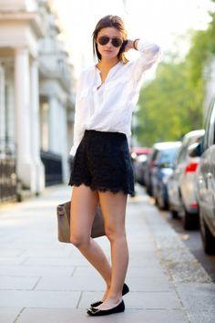 Lace Shorts - Peony Lim