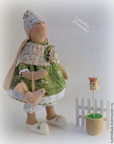Зайка Миланья - оливковый,зелёный,зайка,заяц,зайчик,кролик,заяц тильда