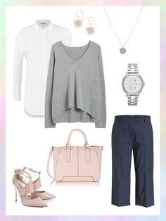 What to wear to work: das perfekte Büro-Outfit mit trendiger Culotte Hose und klassischer weißer Bluse.
