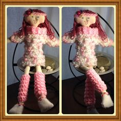 Miss Jeanie 19.5 Handmade tall Cloth Dolly ready by Paper2Roses