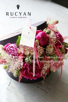 Hat Flower Box(햇 플라워박스)_[플라워스쿨,루시안]전문가반 플라워레슨 :: 네이버 블로그