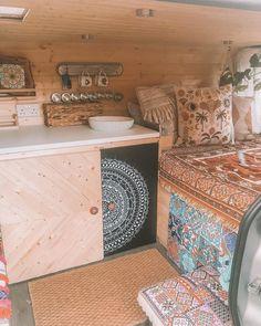 Van Life Camper Conversion Vauxhall Vivaro Short Wheel Base Van Life Camper Conversion Bohemian Decor - Create Your Own Van Bus Living, Tiny Living, Beach House Style, Kangoo Camper, Kombi Home, Motorhome, Van Home, Van Interior, Airstream Interior