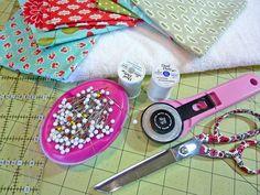 ScrapBusters: Patchwork Bound Washcloths   Sew4Home
