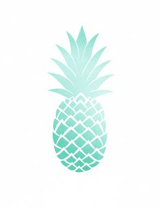 Oh So Lovely: Free Pineapple Printables (3 colors to choose from)
