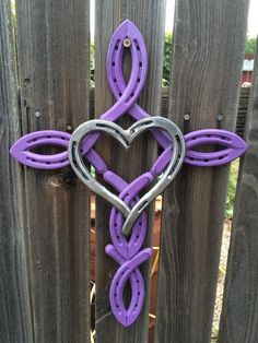 Horseshoe cross with heart