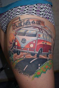 Kuvahaun tulos haulle vw tattoo Vw Tattoo, Surf Tattoo, Car Tattoos, Mini Tattoos, Tattoo You, Body Art Tattoos, Wrist Tattoo, Tatoos, Great Tattoos