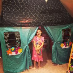 DIY PVC Playhouse tutorial! Find out how to make the frame and the cover without sewing!