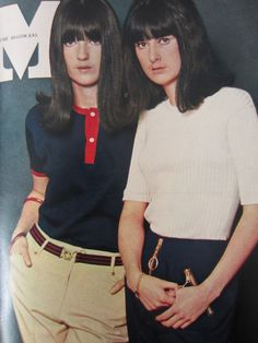 Cathy and Frankie McGowan modelling for Honey magazine, May 1965.