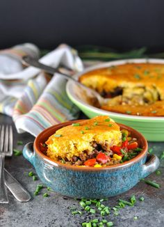 Like a Mexican version of chicken potpie, this Taco Pie is a fun twist on a family favorite dinner! Beef Casserole Recipes, Ground Beef Casserole, Mexican Casserole, Taco Pie, Chicken Potpie, Jambalaya Recipe, Ground Beef Recipes, One Pot Meals, Chicken Recipes