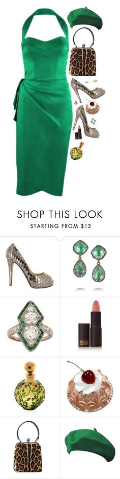 """""""Lisa Larsen"""" by bansheebeat ❤ liked on Polyvore featuring Christian Louboutin, Larkspur & Hawk, Lipstick Queen, Henry Jacques, Forum and Dolce&Gabbana #christianlouboutinlipstick"""