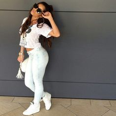 All white swagg Swag Outfits, Dope Outfits, Urban Outfits, Fashion Outfits, Fashion Ideas, Dope Fashion, Fashion Killa, Urban Fashion, Womens Fashion