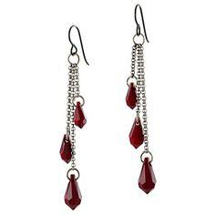 Drops of Blood Earrings