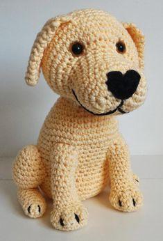 Labrador retriever dog crochet amigurumi miigu pattern - Decor Tips 2019 Labrador Retrievers, Retriever Puppy, Crochet Dolls, Crochet Baby, Knitting Projects, Crochet Projects, Amigurumi Patterns, Crochet Patterns, Dog Pattern