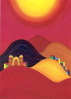 "The beautiful art of indigenous Bolivian painter Mamani Mamani. From ""Pushups in the Prayer Room"" at www. Mexican Paintings, Mexican Artwork, Navajo Art, Elementary Art Rooms, Painted Clay Pots, Mexico Art, Desert Art, Outdoor Paint, Mexican Artists"