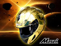 Masei Gold Chrome 802 Full Face Motorcycle Helmet Free Shipping Worldwide (Custom Order)