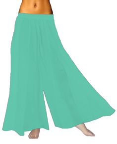 Green /& Black Palazzo Flared Hippie Harem TrouserCulottes Turquoise