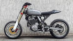 I seriously love those things these folks designed on this unique Honda Dominator, Honda Scrambler, Cafe Racer Motorcycle, Motorcycle Design, Bike Design, Moto Cafe, Cafe Bike, Cafe Racer Bikes, Cafe Racer Build