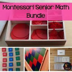 Montessori Senior Math Bundle - montessorikiwin Measurement Activities, Graphing Activities, Counting Activities, Exercise Activities, Fraction Chart, Addition Of Fractions, Ordering Decimals