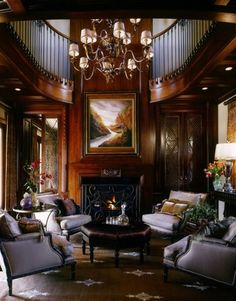 handsome interior - look at that painting