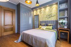 Hálószoba átalakítás 14m2-en egy 26 éves lánynak - lime zöld, szürke, sárga színekkel