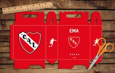 Caja para sorpresitas #Independiente #cumple #box #party #futbol
