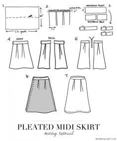 Merrick's Art // Style + Sewing for the Everyday GirlDIY FRIDAY: PLEATED MIDI SKIRT   Merrick's Art