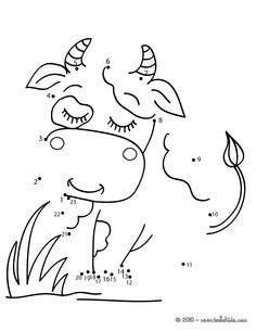 Cow dot to dot game printable connect the dots game. The Hellokids members who have chosen this Cow dot to dot game printable connect the dots game love . Farm Coloring Pages, Kindergarten Coloring Pages, Kindergarten Colors, Free Kindergarten Worksheets, Worksheets For Kids, Free Games For Kids, Math For Kids, Connect The Dots Game, Dot To Dot Printables