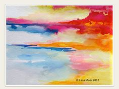 Art Abstract Watercolor Landscape Painting - 'LanasArt' - Lana Moes - Etsy<3<3<3