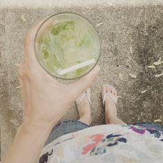 Basil-Infused Lemonade // neverhomemaker
