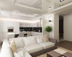 Полный Кухня совмещенная с гостиной: все за и против (110+ отличных идей)
