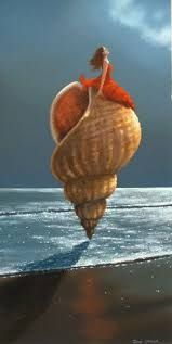 Resplendant / Girl / Lady on a shell - Jimmy Lawlor Colorful fantasy surreal fine art. Jimmy Lawlor, Global Art, Surreal Art, Art Market, Fantasy Art, Past, Shells, Blessed, Auction