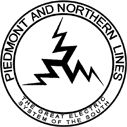 Piedmont and Northern Railway.  1911-1969.   Absorbed into the Seaboard Coast Line Railroad in 1969.