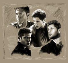 Jensen Ackles / Dean Winchester by tofiepie.deviantart.com on @deviantART