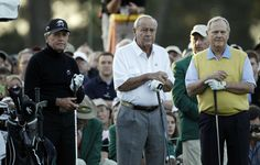 In later years, Palmer was still a fixture on the first tee at the Masters, where he, Nicklaus, and Gary Player were the honorary starters each year.